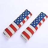 TK-KLZ Pack-2 American US Flag Seat Belt Cover