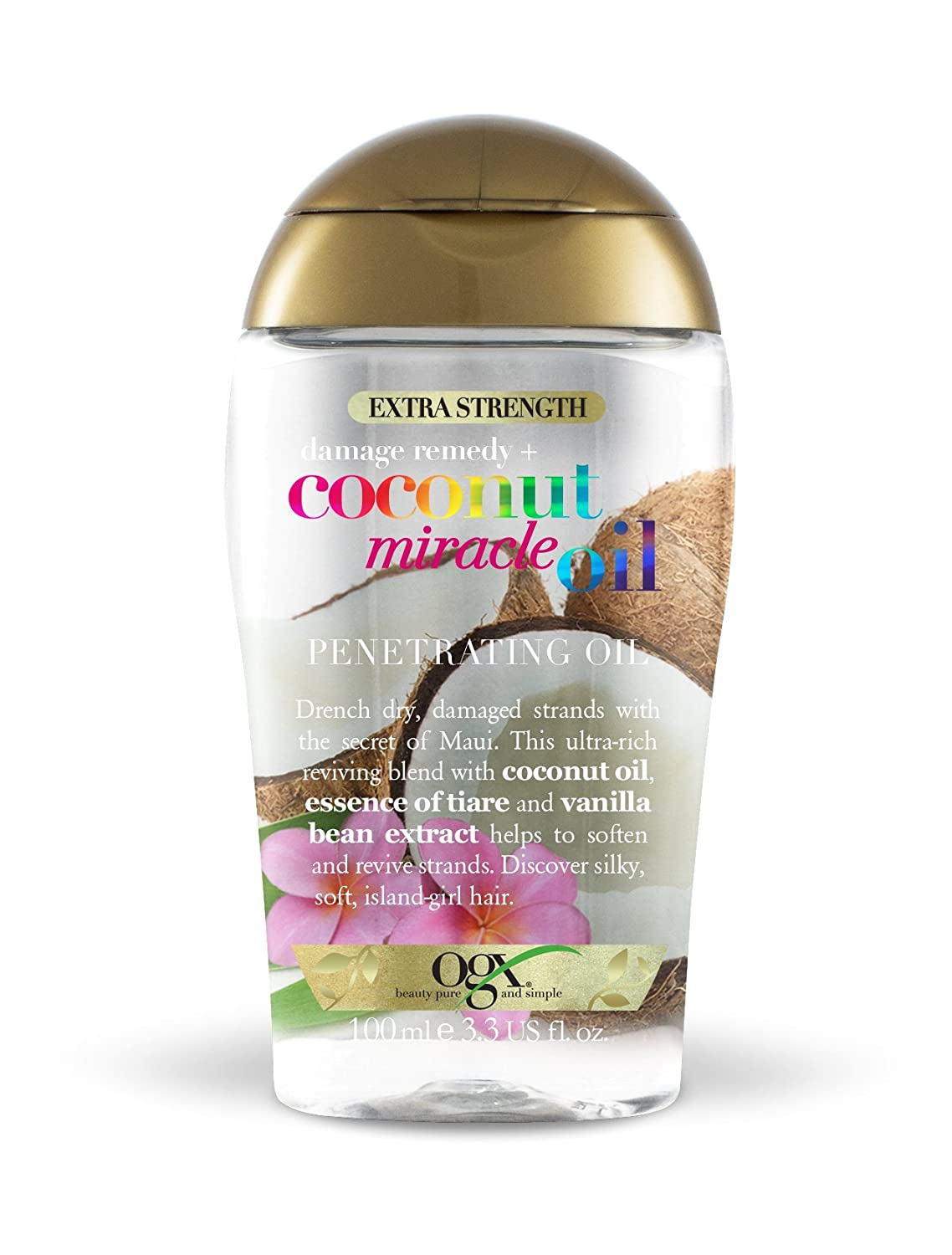 Ogx extra Strength danni rimedio Plus Coconut Miracle oil Penetrating oil, 100ml OGX BEAUTY 97222