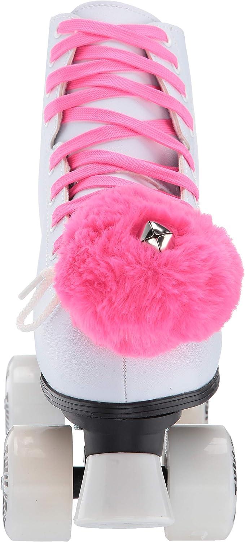 PncsTwlJ12 Epic Skates Epic Princess Twilight Indoor//Outdoor Quad Roller Skates White//Pink Juvenile 12