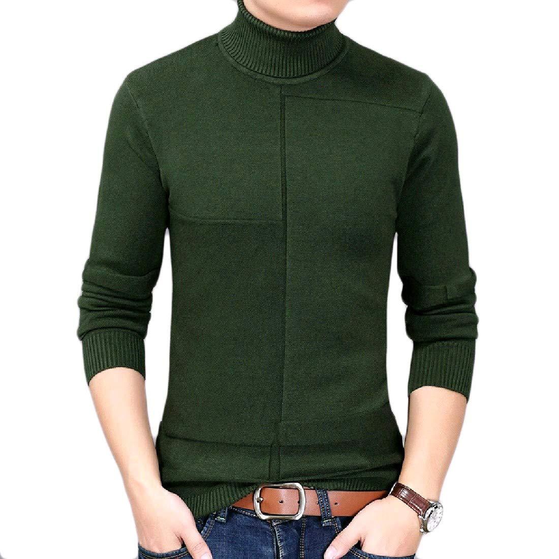 VividYou Mens Business Premium Plus Size Tailored Pullover Sweater