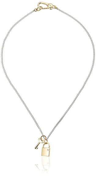 Amazon marc by marc jacobs argento lock and key pendant marc by marc jacobs argento lock and key pendant necklace aloadofball Image collections