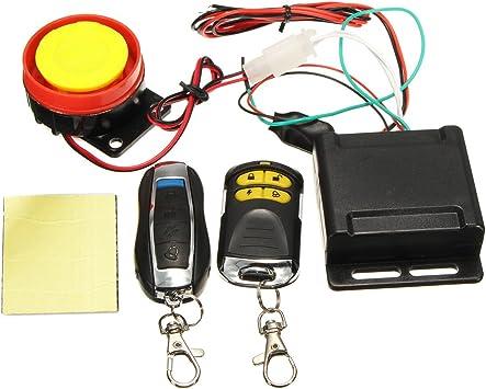 Kill Motorcycle Scooter ATV 12V Universal Alarm System Remote Start //Remote Eng