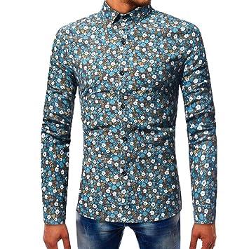 c2d61c94985bb WWricotta LuckyGirls Camisetas Negocio Hombre Manga Larga Originales  Estampado de Flores Polos Streetwear Casual Camisas  Amazon.es  Deportes y  aire libre