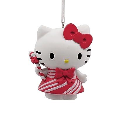 Amazon.com: Hallmark Sanrio Hello Kitty in Peppermint Dress Ornament ...