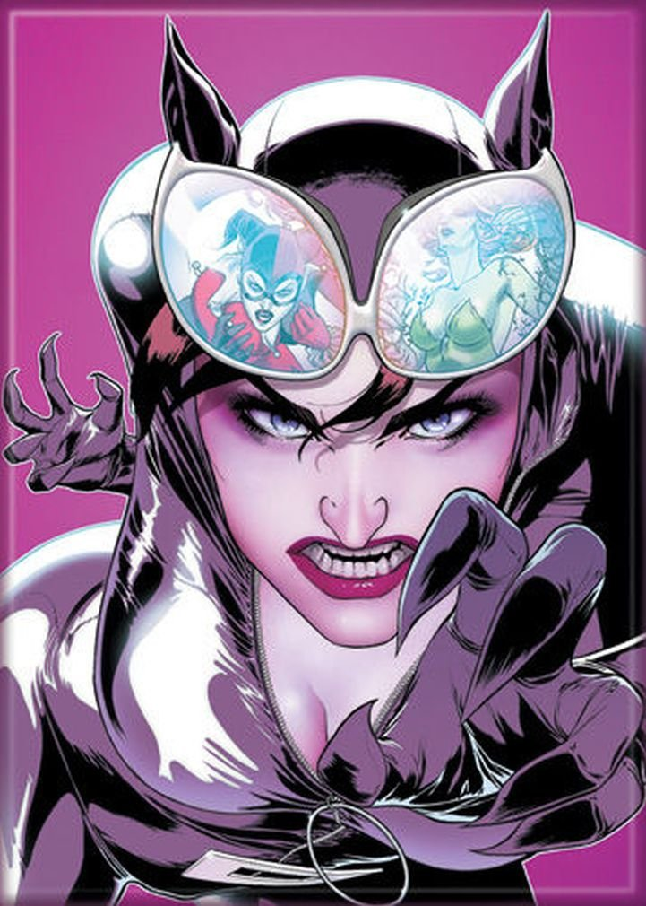 Ata-Boy DC Comics Gotham City Sirens - Catwoman Claws 2.5'' x 3.5'' Magnet for Refrigerators and Lockers