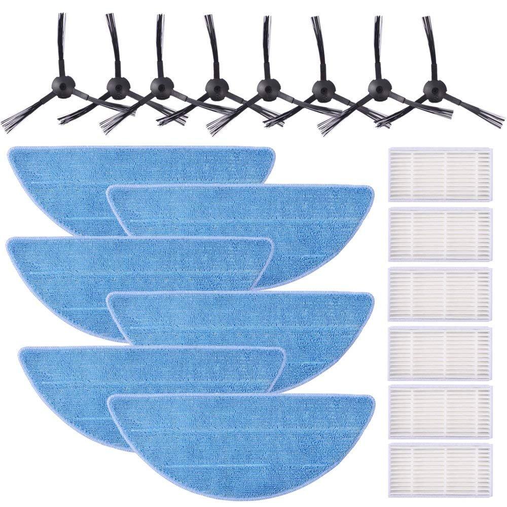 KEEPOW 20 pcs Accesorios para Chuwi ILIFE V3s Pro, V3s, V5, V5s, V5s Pro, Recambios para aspiradora Robótica de Limpiesza del Hogar, Incluye 8 Cepillos ...