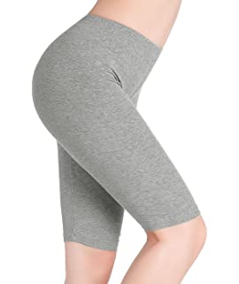 CnlanRow Femme Court Legging Genou Short sous Jupe Shorts Sport - Stretch  Douce Mince b7c0977bc3d