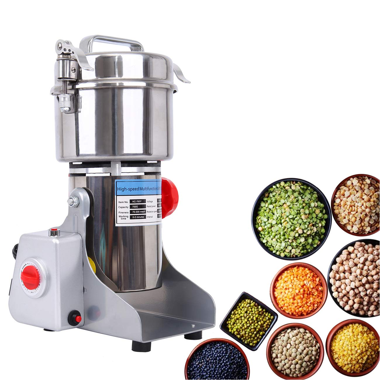 TryE 700g Pulverizer Grinding Machine Electric Grain Grinder Powder Machine for Coffee Herb Spice Pepper by TryE