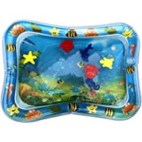 Inflatable Tummy Time Water Play Mat, HISU Leakproof Water Filled Baby Playmat for Children and Infant, Fun Activity Play Center Your Baby's Stimulation Growth Patted Pad Cushion (Model:Star)