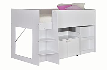 Etagenbett Niedrig : Flexa classic etagenbett cm höhe gerade leiter weiß