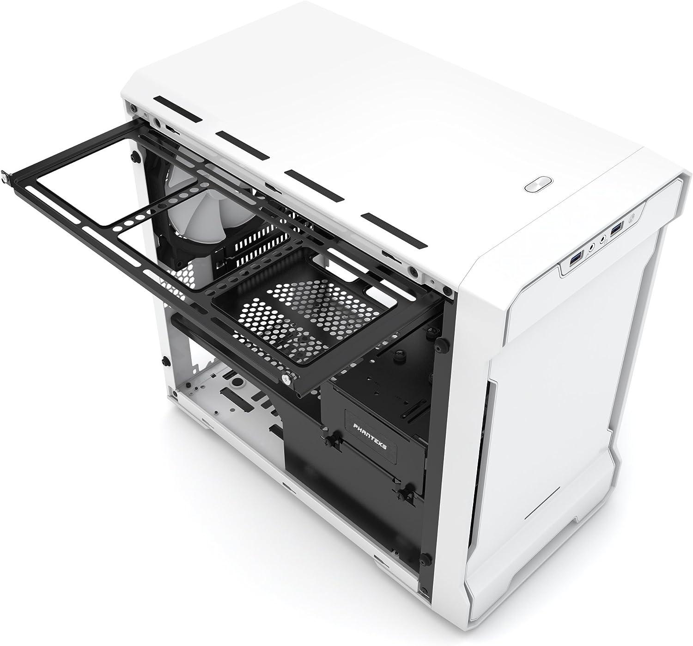 Phanteks Enthoo Evolv ITX Tempered Glass Torre Blanco - Caja de Ordenador (Torre, PC, De plástico, Acero, Vidrio Templado, Mini-ITX, Blanco, Juego): Amazon.es: Informática