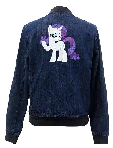 Rarity Pony Bomber Chaqueta Girls Jeans Certified Freak
