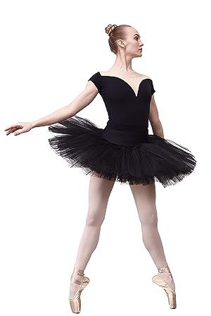 DANCE YOU Profesional Falda Tutu de Ballet para Mujer 7 Capas ...