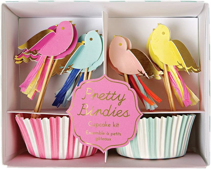 Prettie Birdies Cupcake Kit Makes 24 Cupcakes