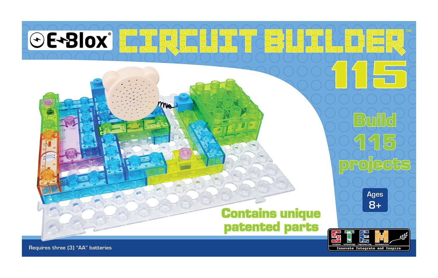E-Blox Circuit Builder 115 Building Set free shipping - monkeymedia ...