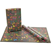 eVincE Gift Wrapping Paper Kids Birthday boy girl Butterfly facts to wrap | Match colorful pairs | Pack of 25 recyclable…