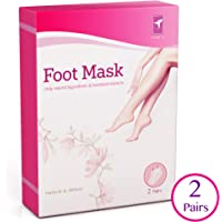 Tomiya Exfoliating Foot Peel Mask   Gently Peel Away Calluses and Dead Skins, Deep Exfoliation, Repair Rough Heels, Get Soft and Smooth Baby Feet in 7 Days (2 Pairs)