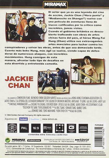 La Leyenda Del Luchador Borracho Dvd Amazon Es Jackie Chan Chia Liang Liu Jackie Chan Películas Y Tv