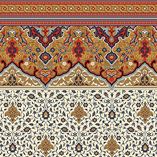 Dollhouse Wallpaper - Victorian Persian Fringe Frieze and Wall ()