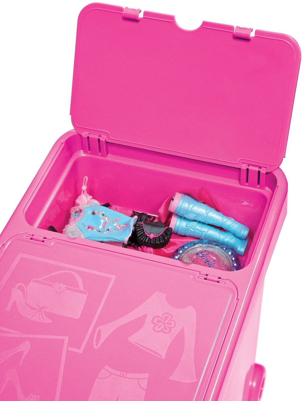 Barbie Store It All! Doll U0026 Accessory Rolling Bin (NEW): Amazon.co.uk: Toys  U0026 Games