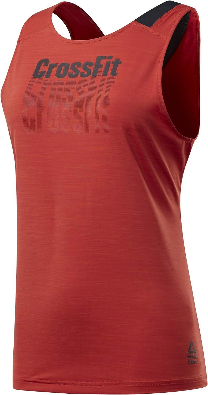 L Black Reebok RC Activchill Tank Camiseta de Tirantes para Fitness y Entrenamiento Negro Mujer