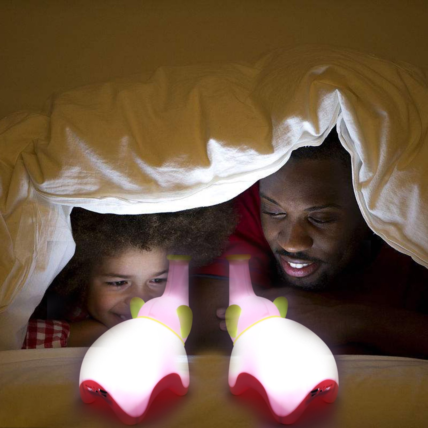 COOLCT 3D Big Size Pink Elephant Night Lamp You can Blow or tap to Light or Off!