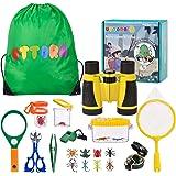 UTTORA Outdoor Explorer Kit & Bug Catcher Kit with Binoculars, Flashlight, Compass, Magnifying Glass, Critter Case and…