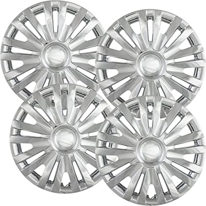 15 inch Hubcaps Best for 2010-2013 Volkswagen Golf - (Set of 4) Wheel Covers 15in Hub Caps Chrome Rim Cover - Car Accessories for 15 inch Wheels - Snap On ...