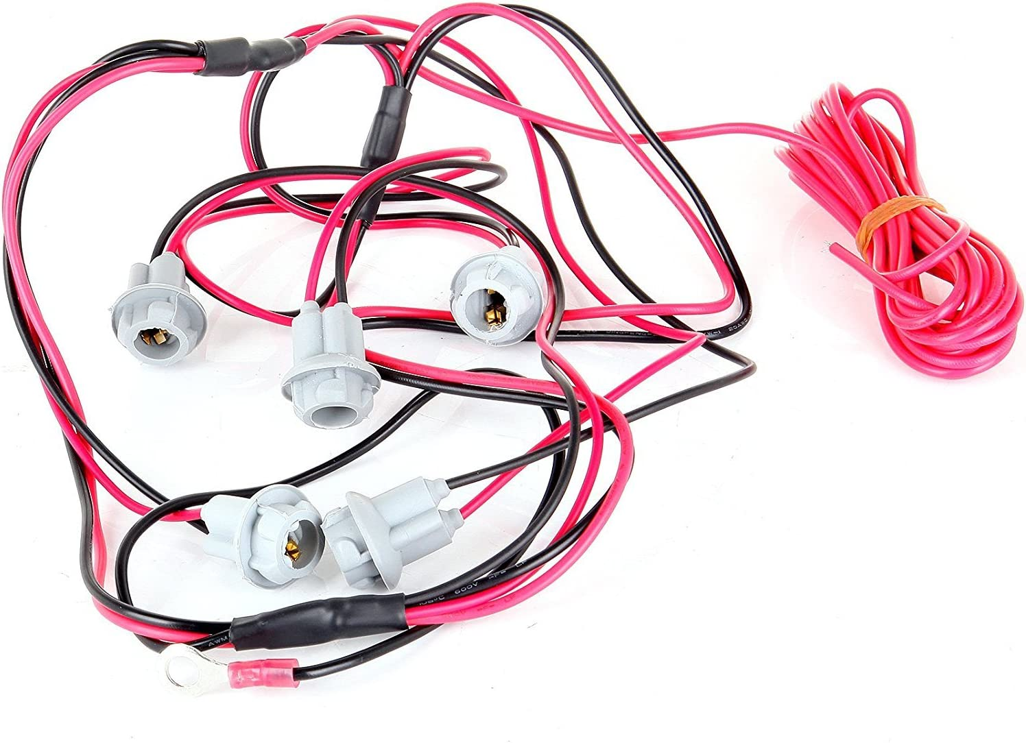 Wiring Pack fit 2003-2012 Dodge Ram 1500 2500 3500 4500 5500 5Pcs Pink T10 led Bulb SCITOO 5Pcs Roof Running Light lamp Covers with Base Housing