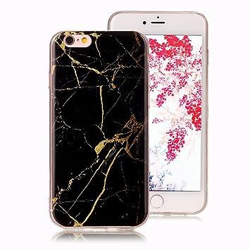 Funda Mármol para iPhone 6S, iPhone 6 Case, Ronger Carcasa Gel TPU Silicona Marble Case Cover Funda Ultra Fino Flexible con Patrón de Piedra para ...