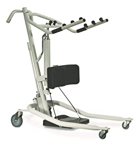 Invacare Get-U-Up Hydraulic Stand-Up Patient Lift, 350 lb. Weight Capacity, GHS350, Beige