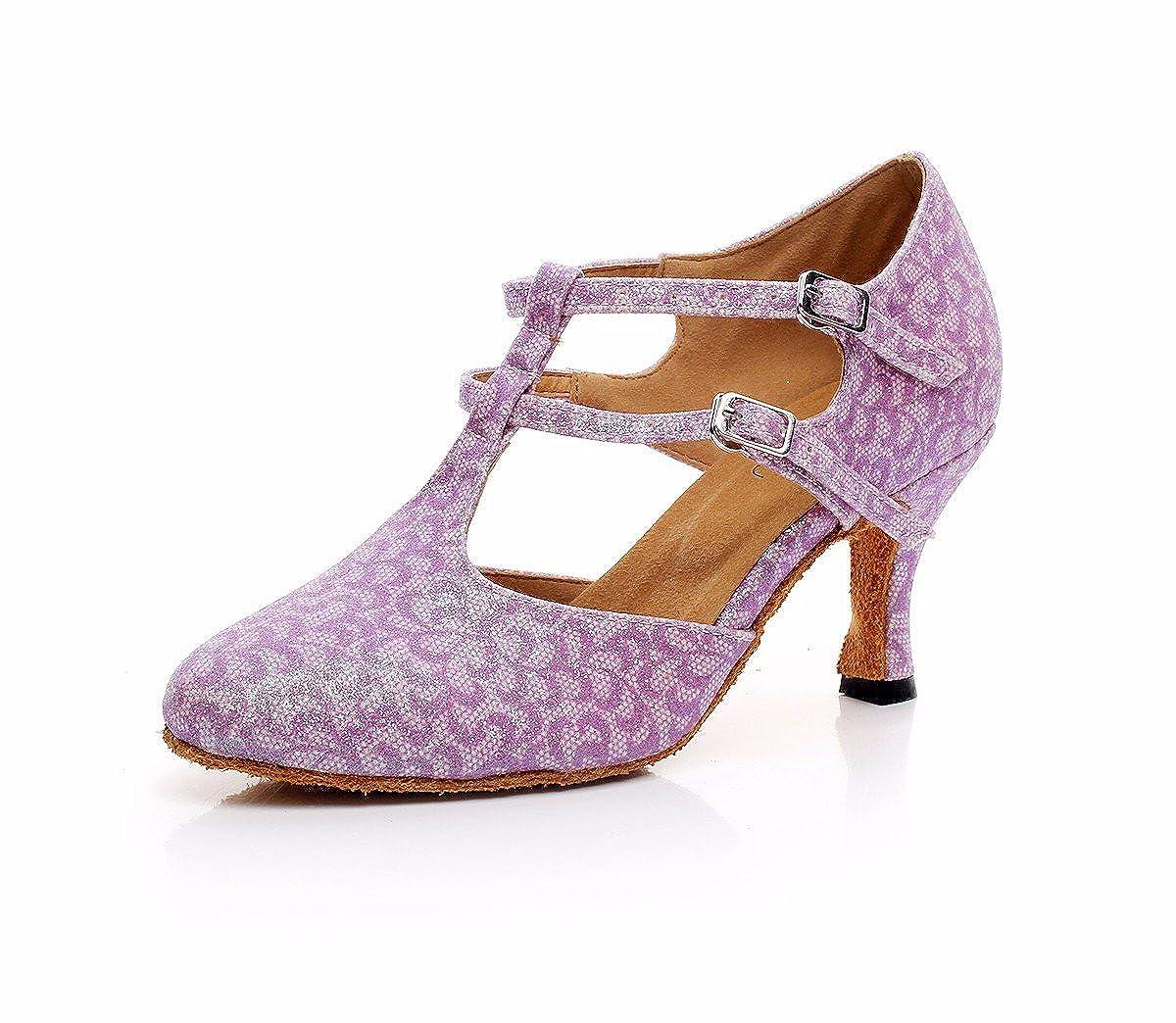 Rose JINGXINSTORELes chaussures de danse salsa latine sandales d'intérieur Flash-Material Professionnel 39 EU