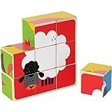 Hape International Hape E0422 - Puzzle in Blocchetti con Gli Animali Della Fattoria