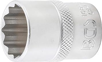 Llave de vaso 12 caras BGS 10641 entrada 12,5 mm 1//2 | 21 mm