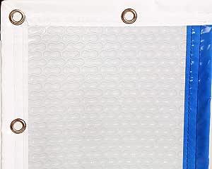 INTERNATIONAL COVER POOL Cobertor T/érmico 400 micras GeoBubble para Piscina 3 x 3 Metros con Refuerzo en Todo el Contorno