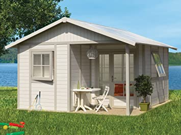 Awesome Kunststoff Gartenhaus Deco 20VSB Grau/grün/weiß, 403x493 Cm