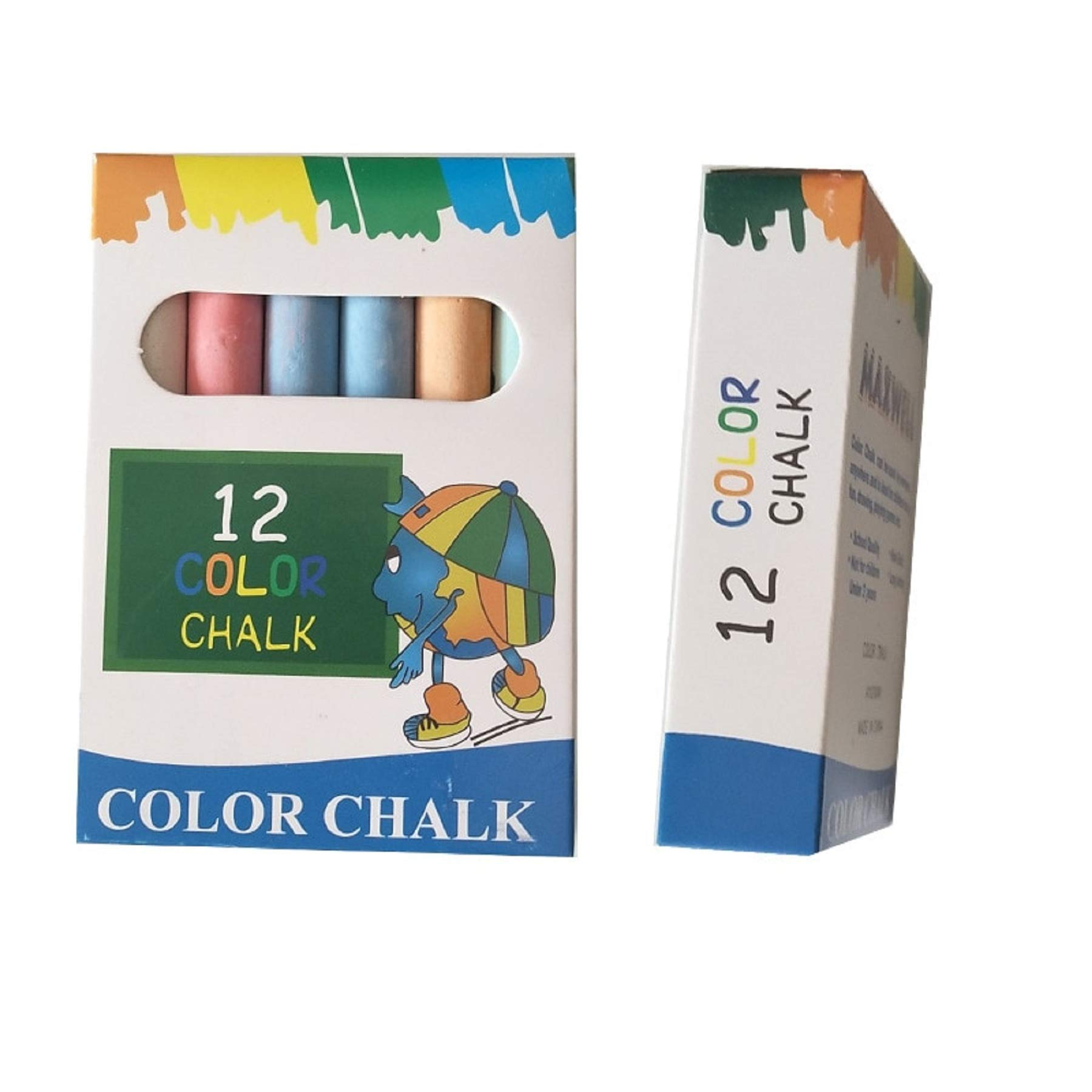12 pcs/Lot Dustless Chalk Pen Drawing Chalks For Blackboard 6 Colors Stationary Office School Supplies Accessories Tizas Escolar 19E2