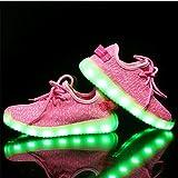 Boys Girls 7 Colors LED Luminous Knit Sneakers