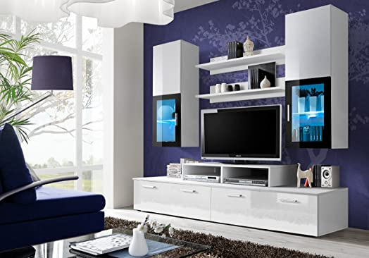 BMF \u0026quot;MINI WHITE GERMAN STYLE\u0026quot; Entertainment Wall Unit   Living  Room / Bedroom Units