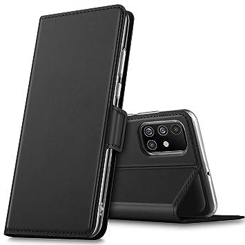 GEEMAI Diseño para Samsung Galaxy A51 Protectora Funda,con Soporte Plegable Apto para Samsung Galaxy A51 Smartphone. (Negro)