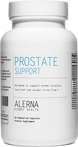 Alerna Kidney Health Prostate Support Supplement for Men with Saw Palmetto, Nettle Root, and Pumpkin Seed Extract 1 Bottle