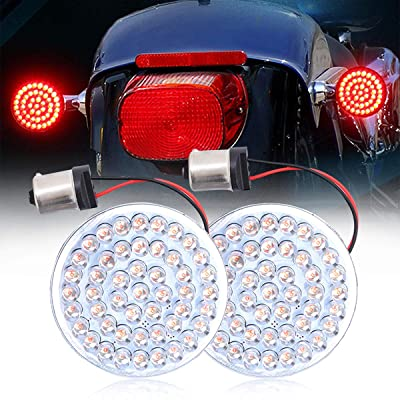 2 Inch Harley Turn Signal Led Inserted Bullet Style 1156 Rear Red LED Brake for Harley Sportster XL883 2002-2014 FXD Dyna Super Glide 2002-2010: Automotive