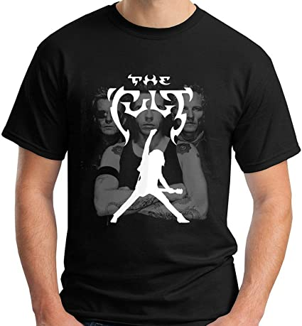 The Cult Logo Hard Rock Band Camiseta Negra para Mujer: Amazon.es: Ropa y accesorios