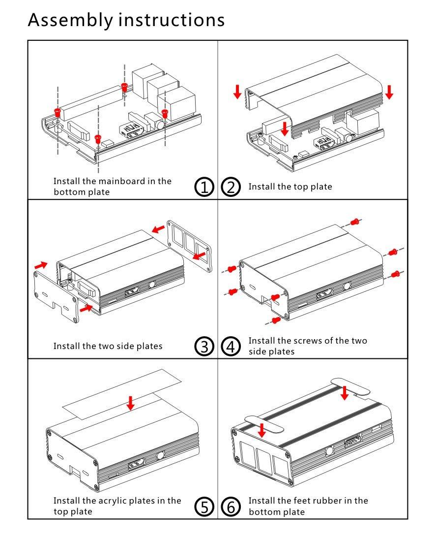 Eleduino Raspberry Pi 3 Aluminum Alloy Metal Case Blue and 5V 2.5A Power Supply Kit by EleDuino (Image #4)