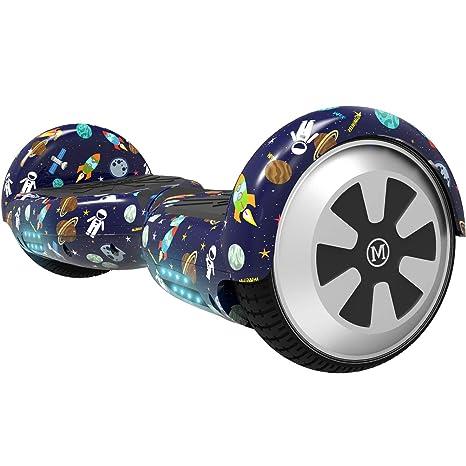 M MEGAWHEELS Scooter-Patinete Eléctrico Hoverboard, 6.5 Pulgadas con Bluetooth - Motor eléctrico 500w, Velocidad 10-12 Km/h. (Starry Sky)