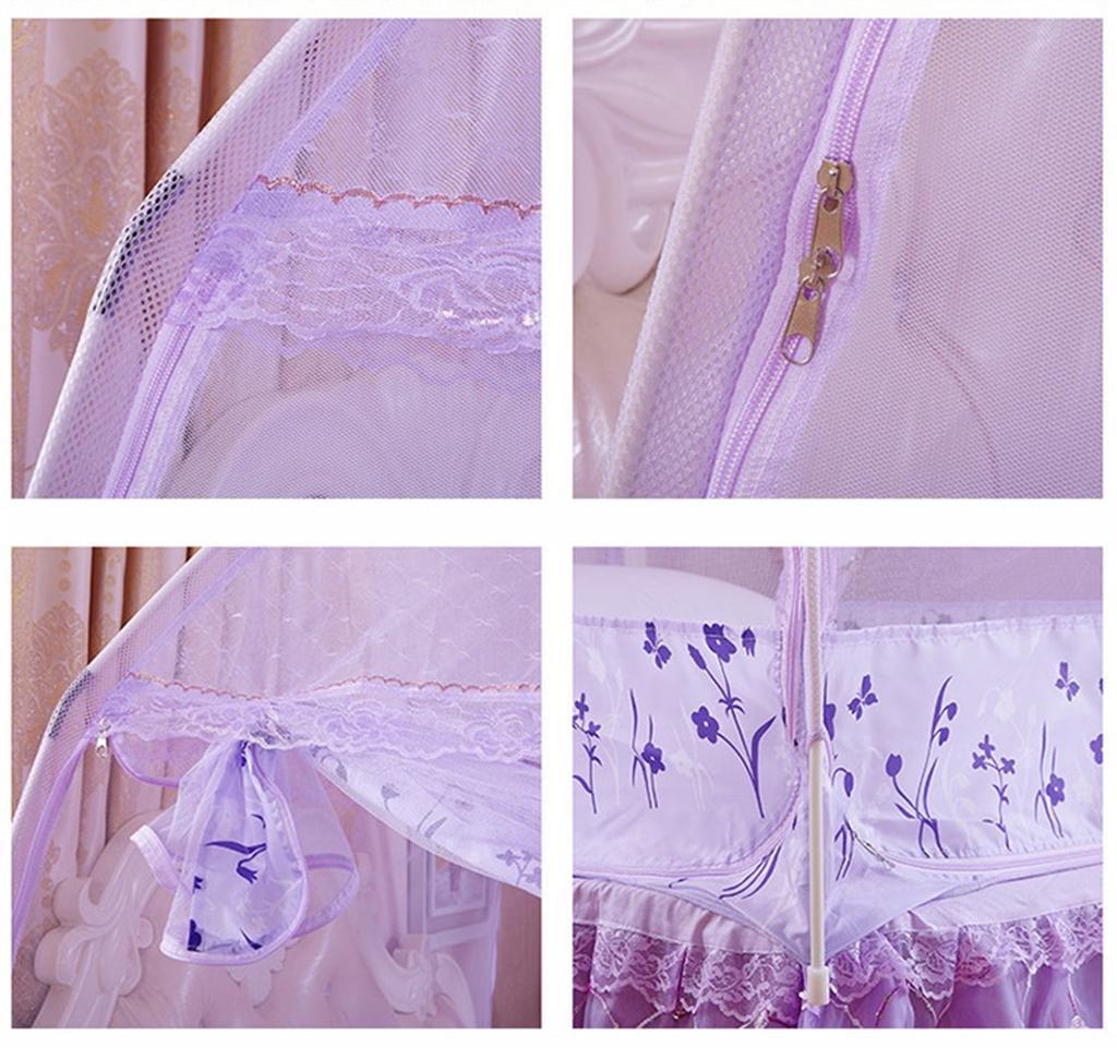 XH neue Moskitonetze neue XH hohe mongolische Tasche Moskitonetz zwei oder drei öffnen die Tür Anti-Moskito-Kuppel Reißverschluss Netze, water Blau, Large (37  26  13cm) 7302b6
