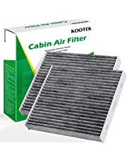 Kootek Car Cabin Air Filter Replacement for CF10285 with Active Carbon for Toyota/Lexus/Scion/Subaru, against Bacteria Dust Viruses Pollen Gases Odors, 2 Pack