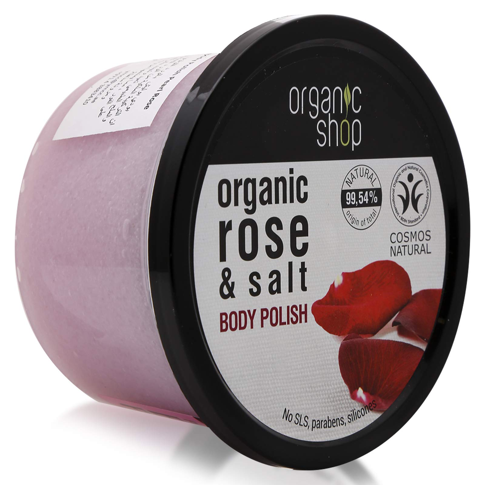 Organic Shop Pearl Rose Body Polish, 250 ml