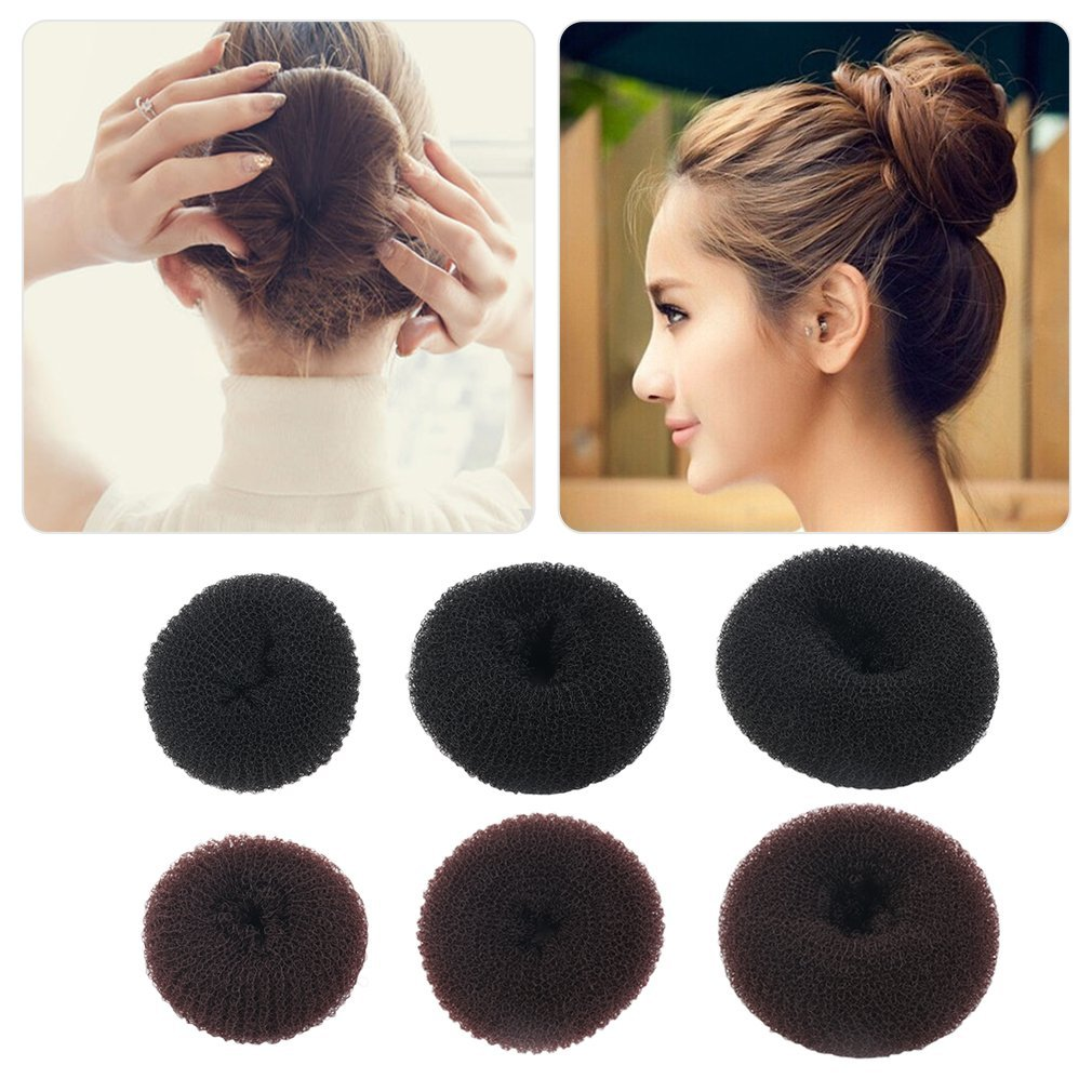 Ddge Dmms donne ragazze spugna capelli, chignon anello a forma di ciambella per capelli Styler Tool salute e bellezza JK0101