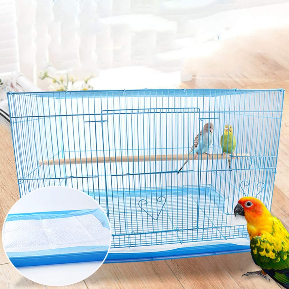 Sky-Blue POPETPOP 10pcs//Set Disposable Non-Woven Bird Cage Liners Papers Absorbent Parrot Cages Cushion Pad Mat Accessories